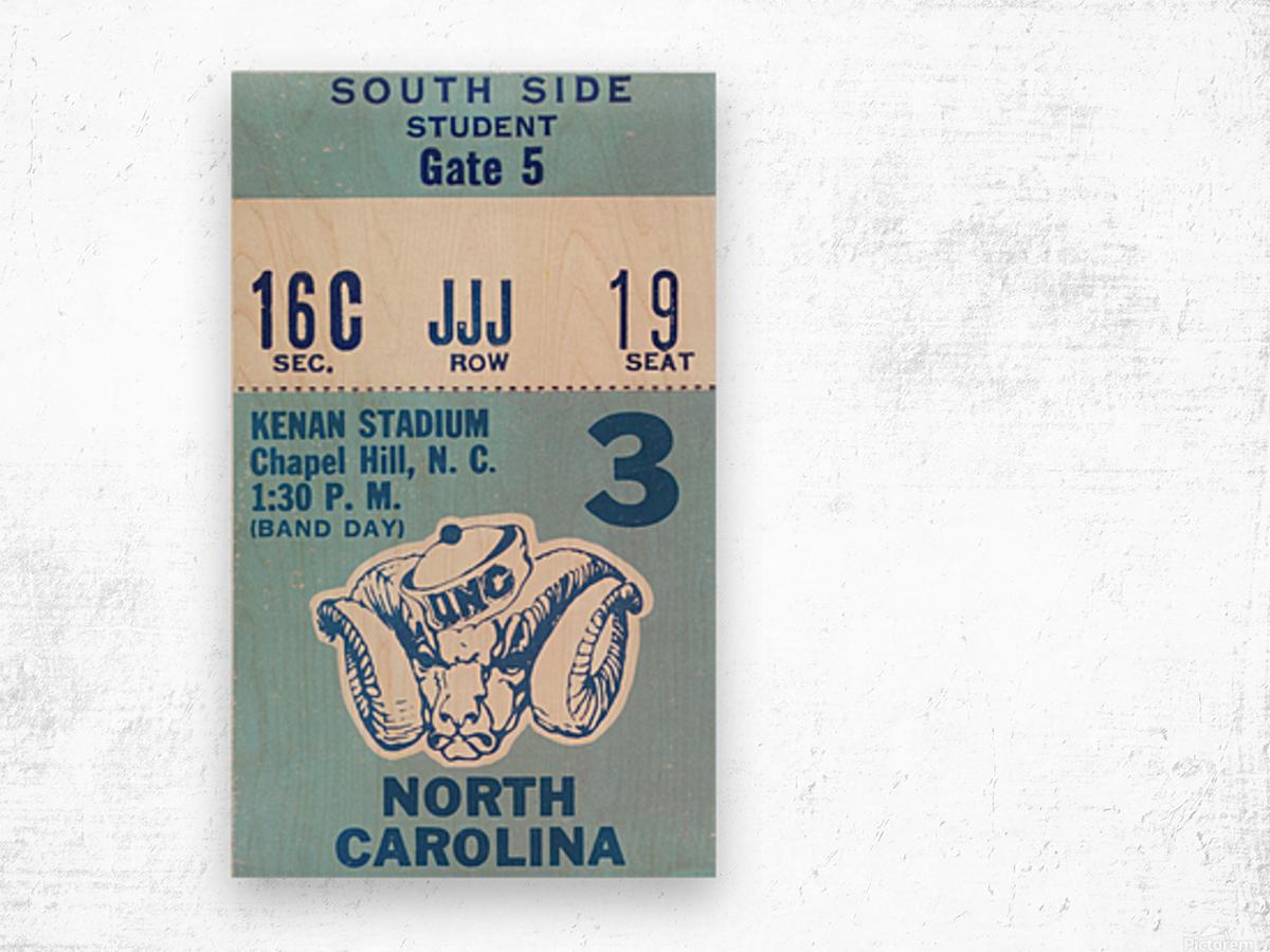 1978 North Carolina Student Ticket Wood print