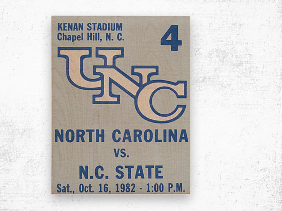 1982 North Carolina vs. NC State Wood print