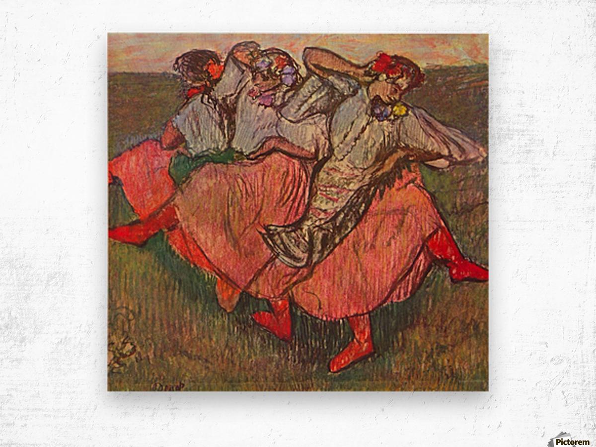 Russian Dancers by Degas Wood print