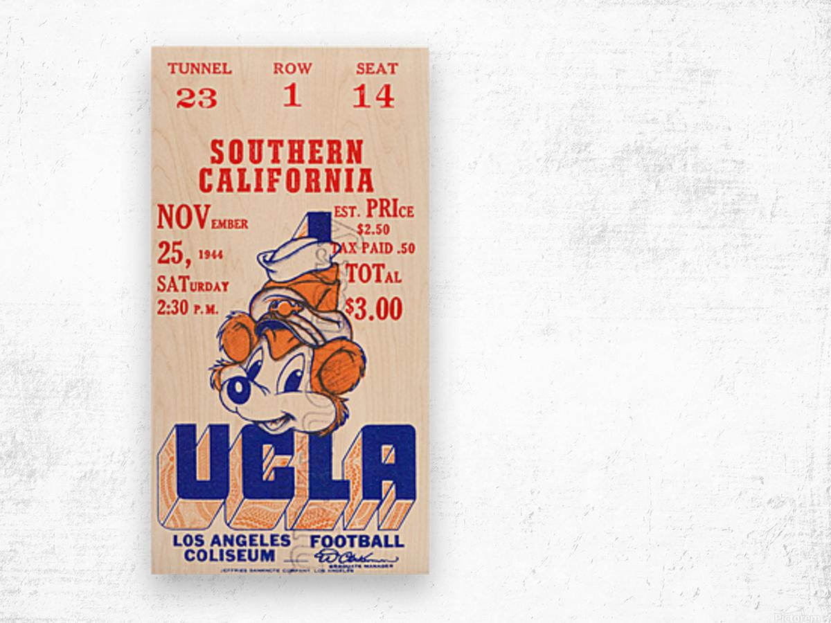 1944 USC vs. UCLA Wood print