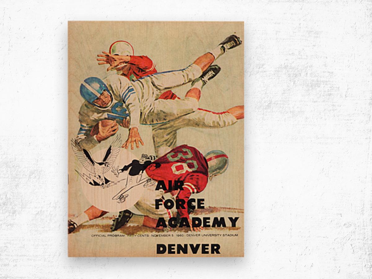 1961 Air Force vs. Denver Wood print