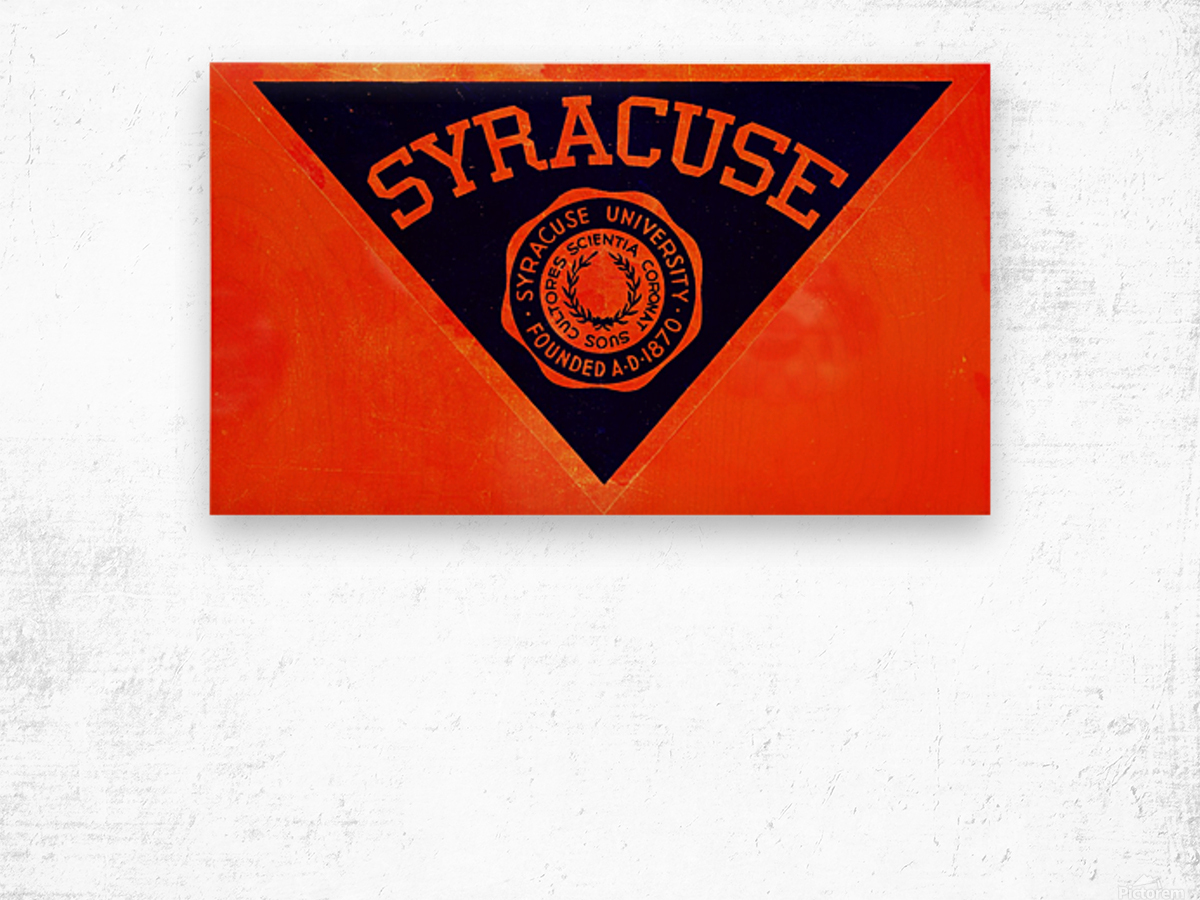 Vintage Syracuse Art Wood print