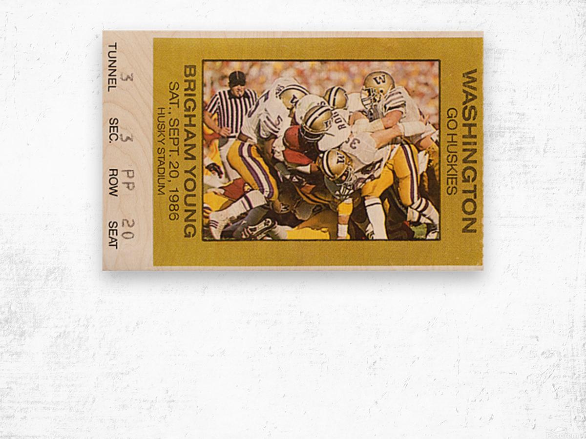 1986 Washington vs. BYU Wood print