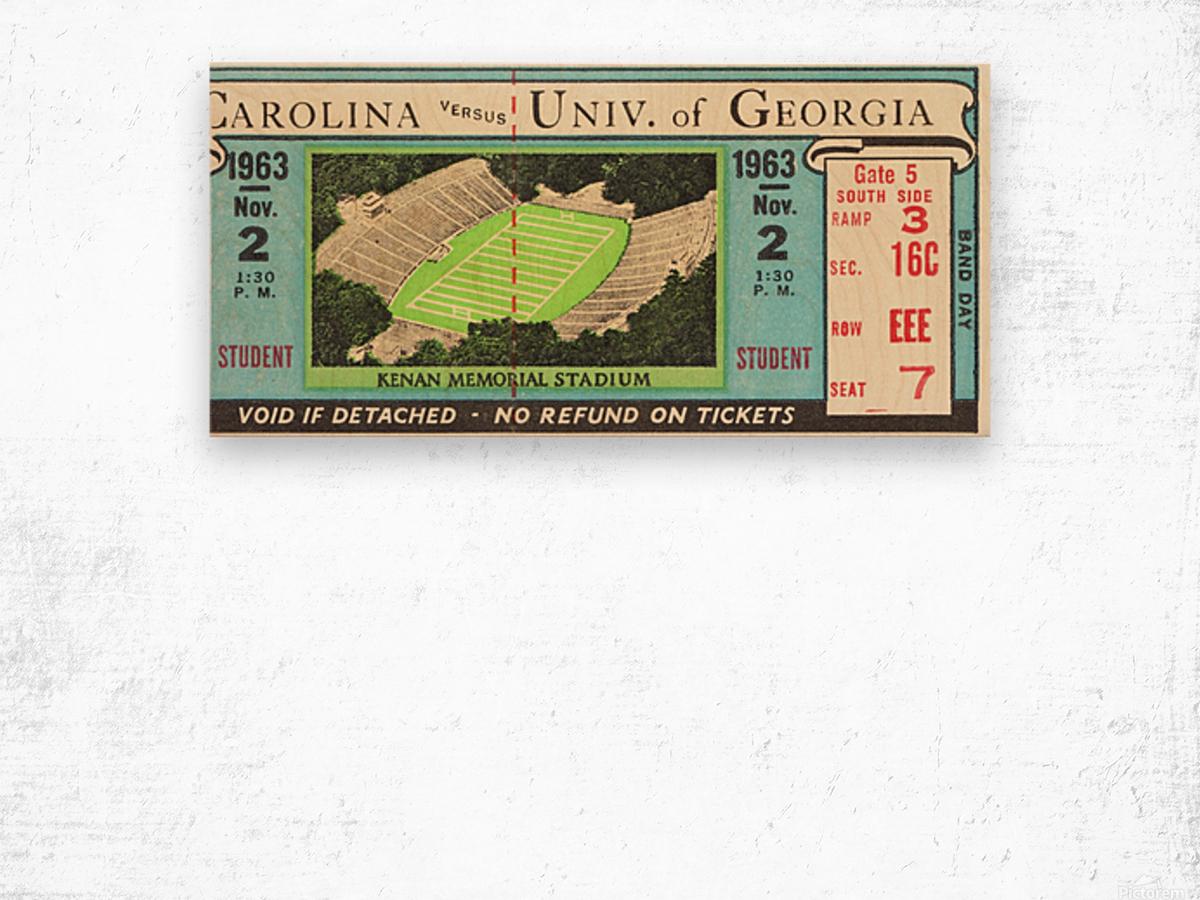 1963 North Carolina vs. Georgia Wood print