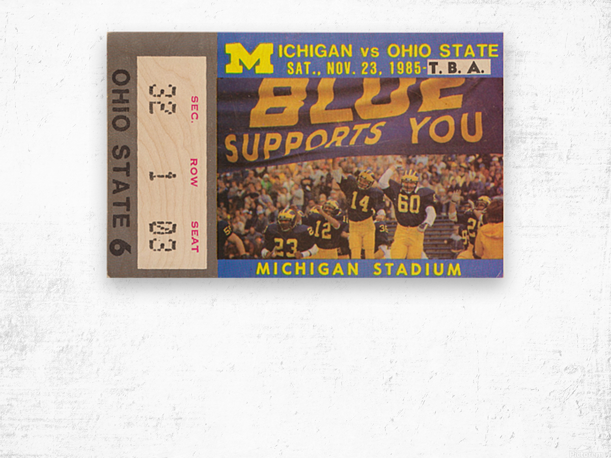 1985 Michigan vs. Ohio State Wood print