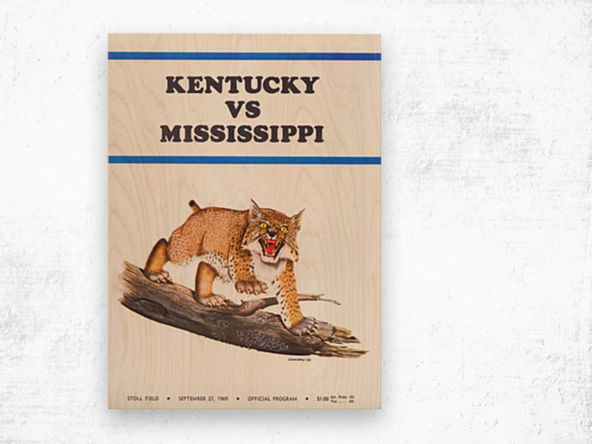 1969 Kentucky vs. Mississippi Wood print