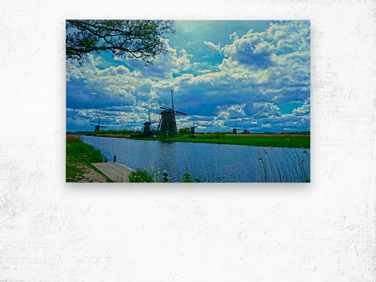 Windmills of the Netherlands 2 of 4 Wood print