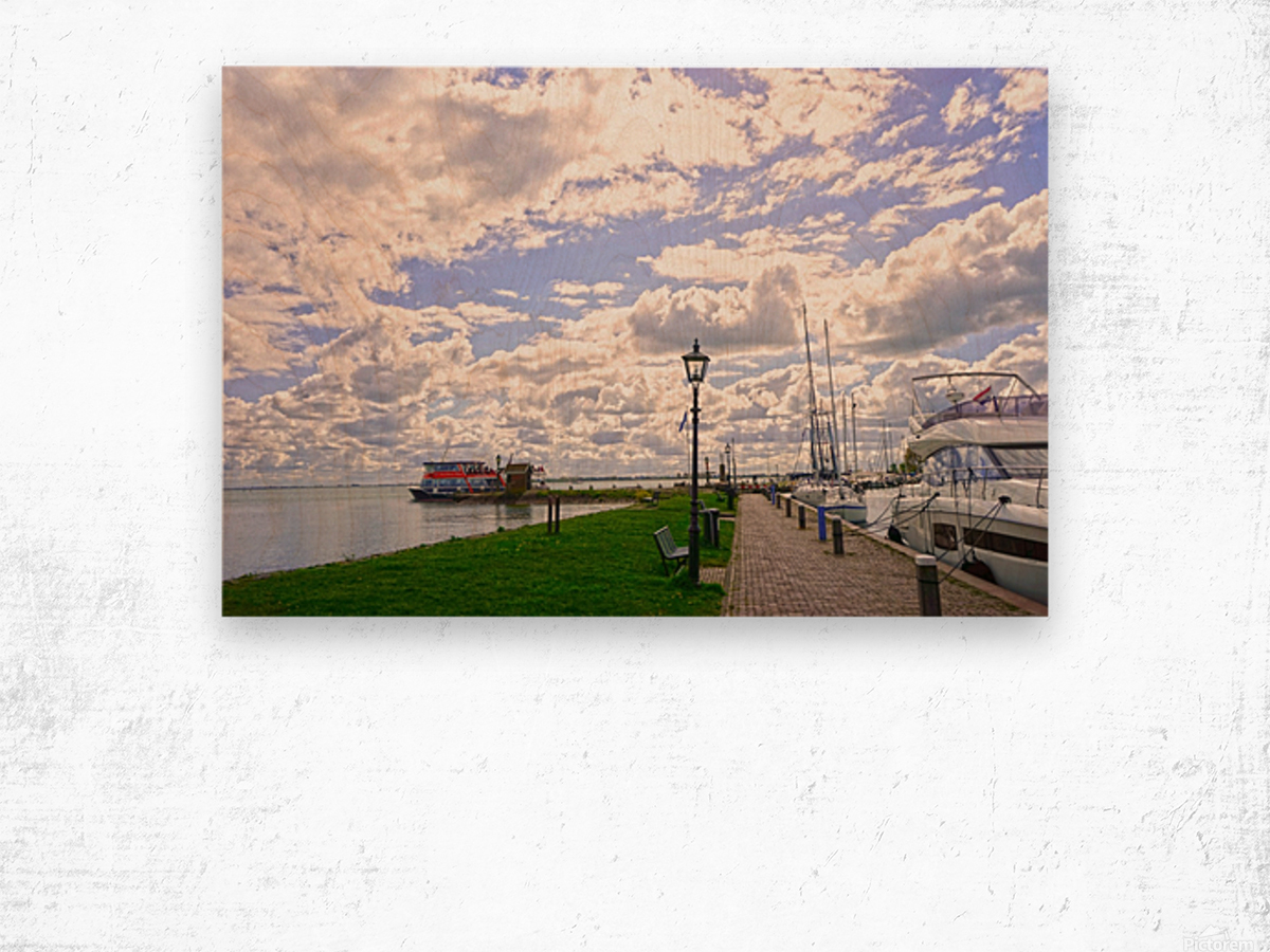 Inland Harbor Netherlands 3 of 5 Wood print