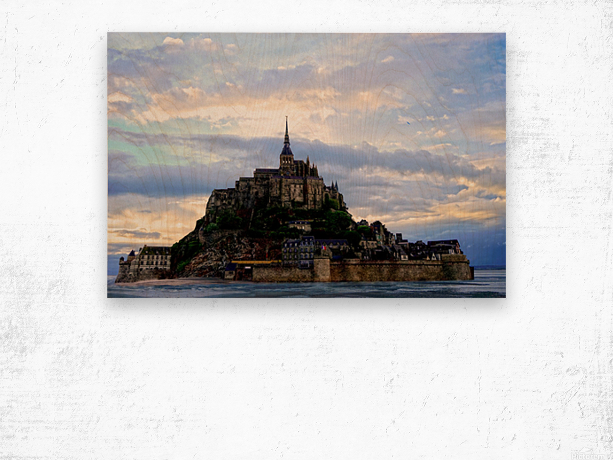 Mont St Michael Rising Tide Wood print