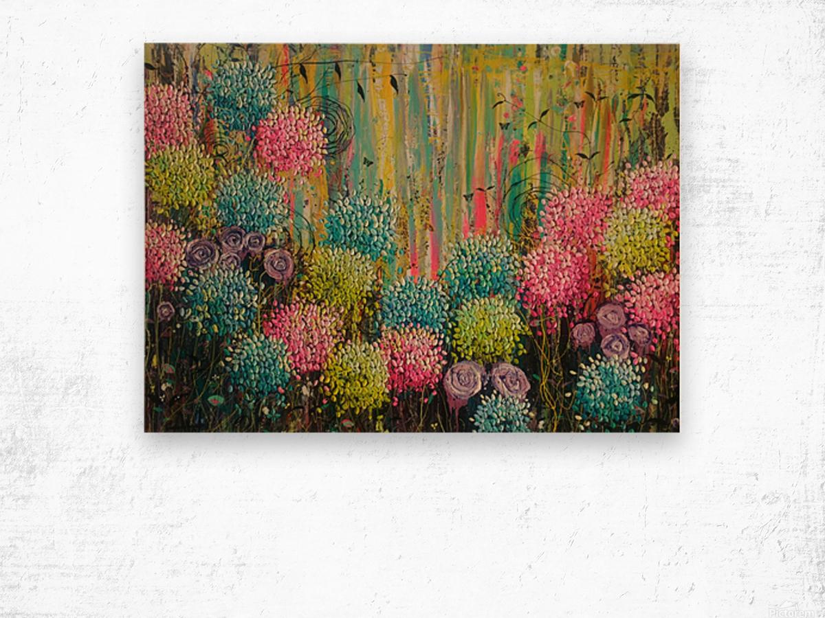 Flower Candy  Wood print