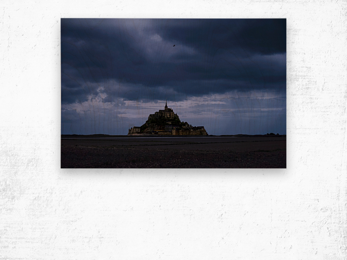 A Day at Mont Saint Michel 12 of 12 Wood print