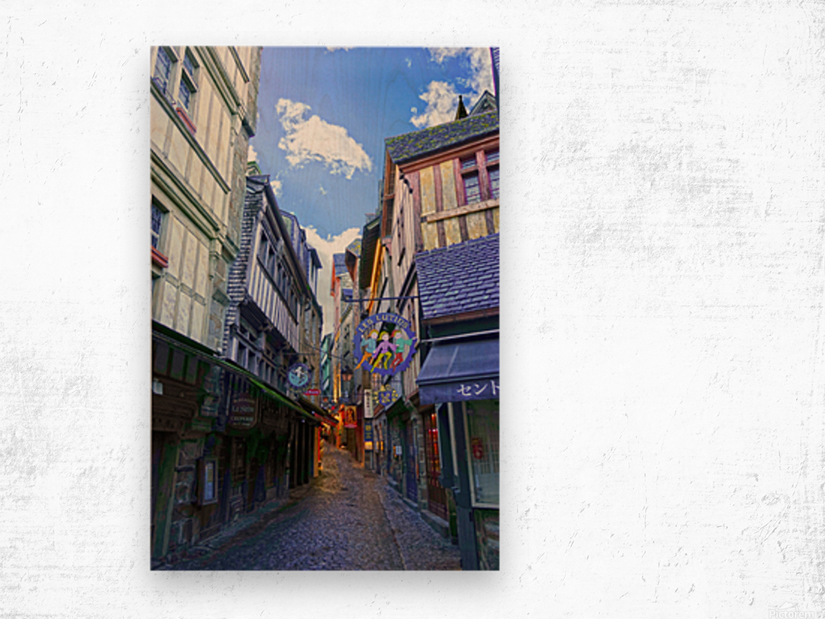 A Day at Mont Saint Michel 3 of 12 Wood print