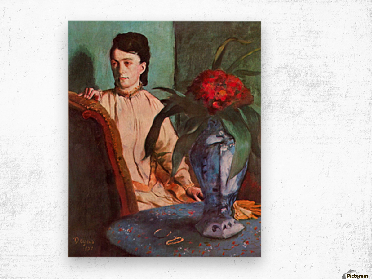 Seated woman by Degas Wood print