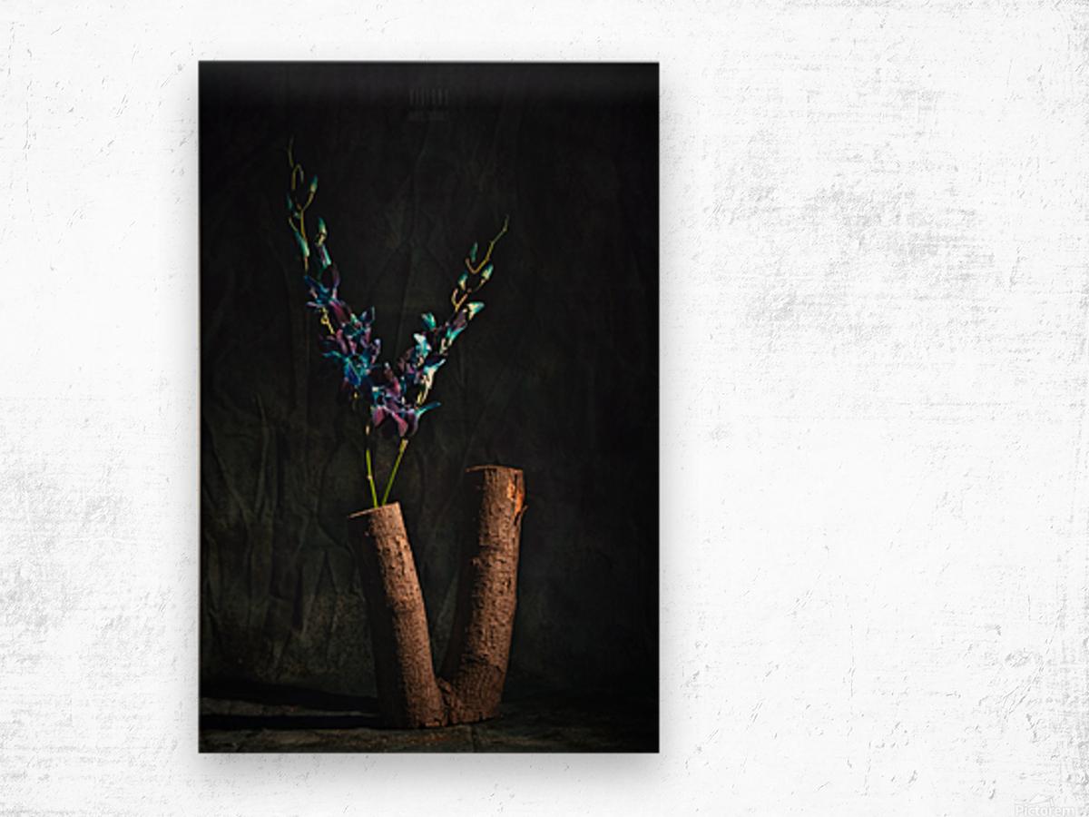 Fleur doiseau Wood print