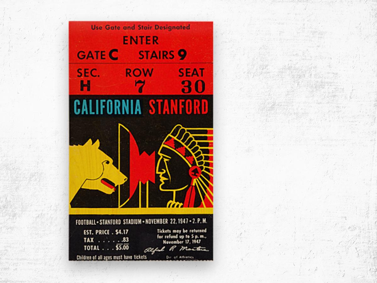 1947 Cal vs. Stanford Wood print