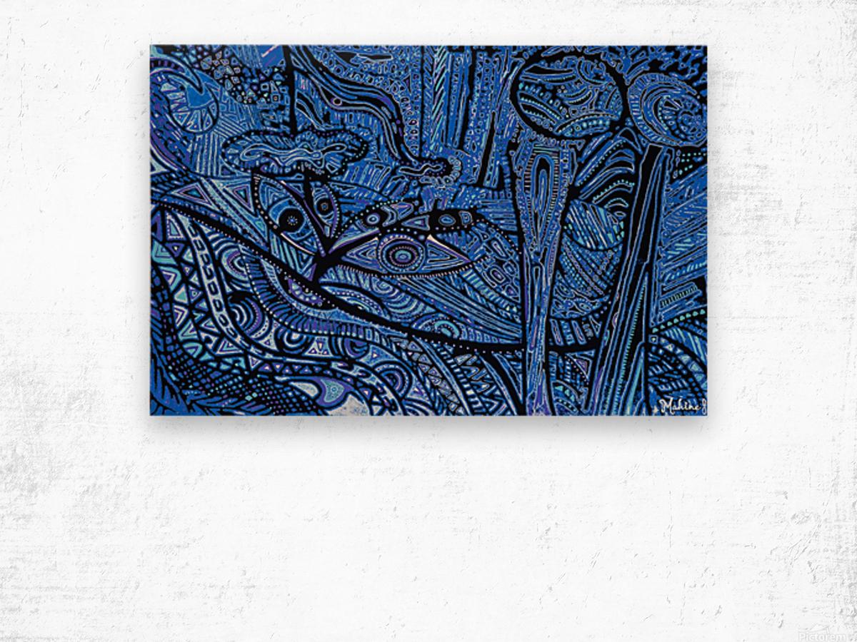 La source en Eveil Wood print
