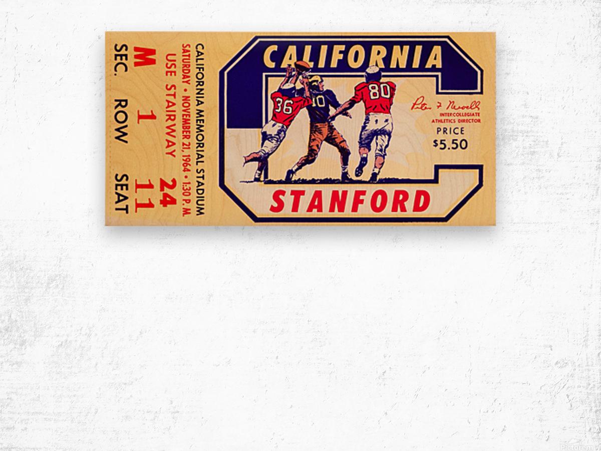 1964 California vs. Stanford Wood print