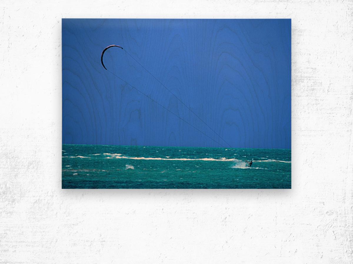 Wind Surf Hawaii Wood print