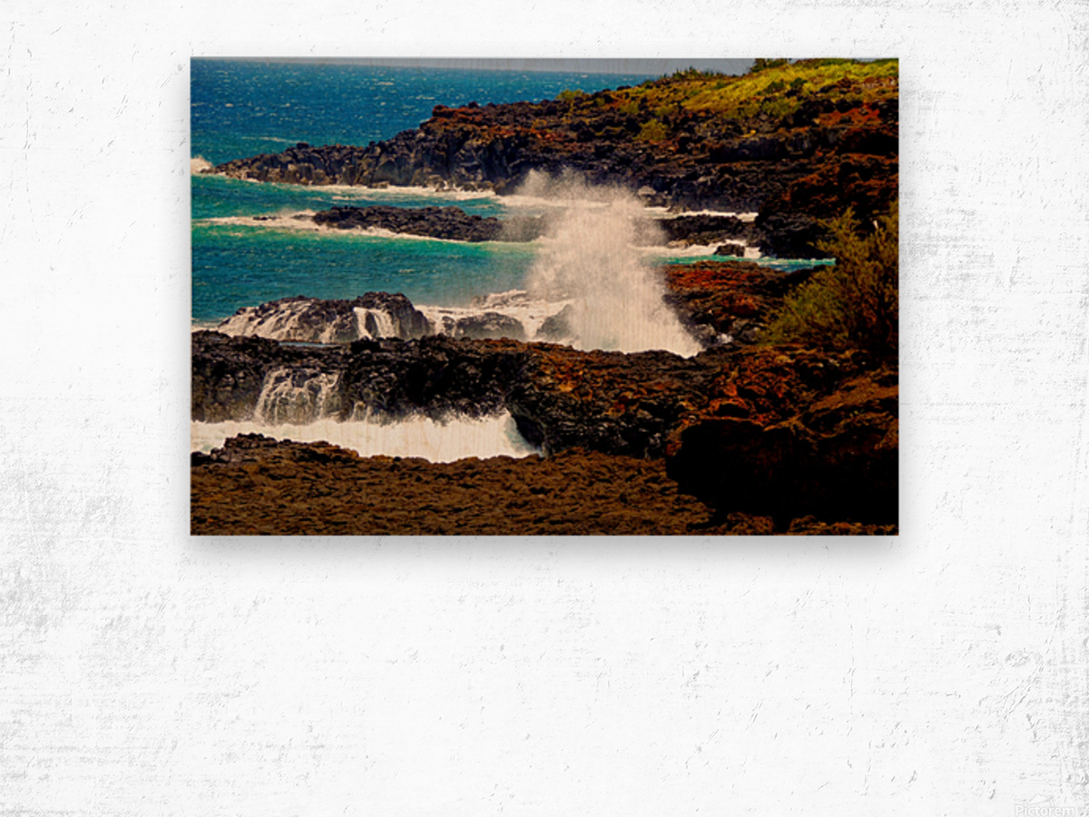 Rugged Kauai Wood print