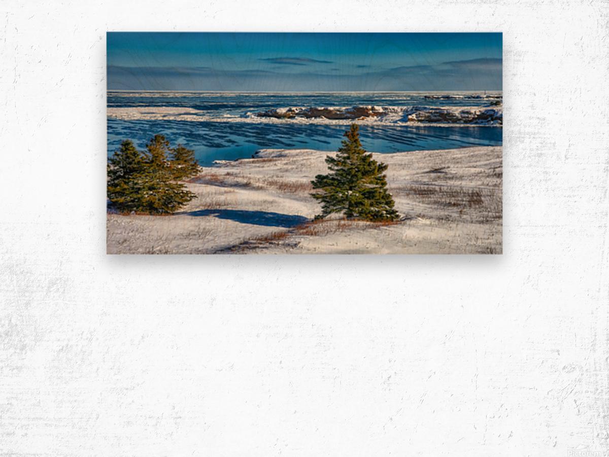 Pointe Saint-Pierre et lIle Plate Impression sur bois