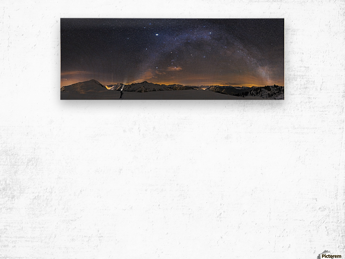Under the Starbow by Dr. Nicholas Roemmelt Wood print