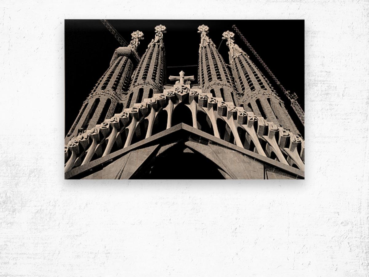 the Cathedral - La Sagrada Familia Impression sur bois