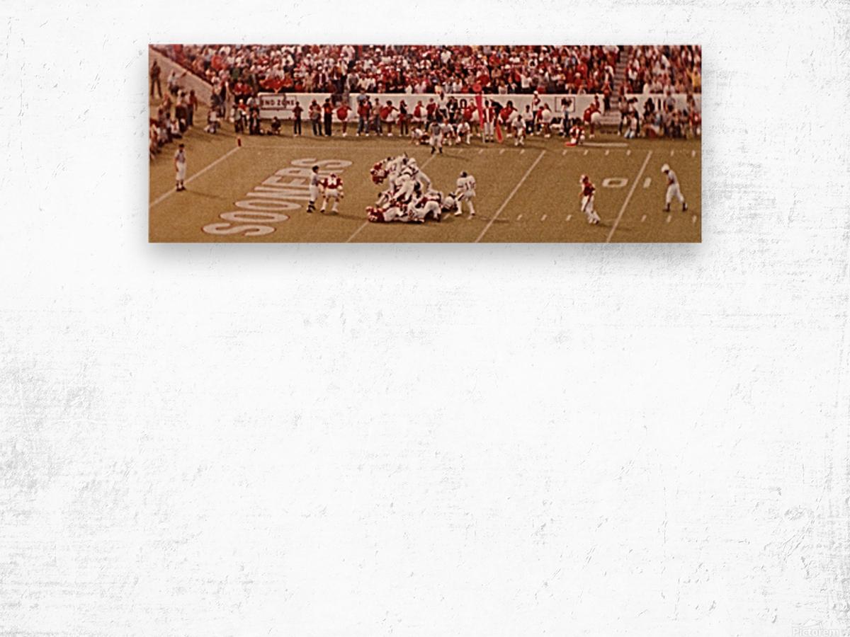 1982 Oklahoma vs. OSU Marcus Dupree Touchdown Wood print