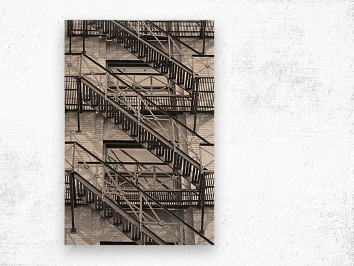 ASCEND DESCEND Wood print