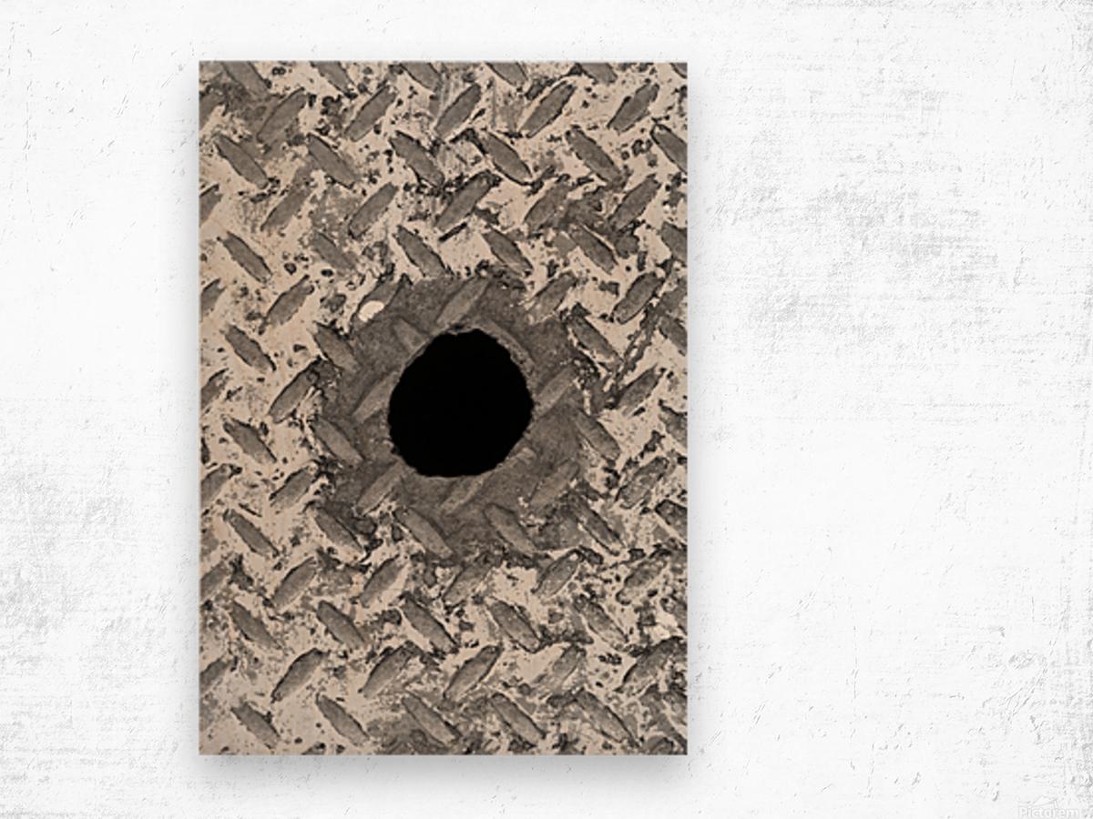 CURIOUS Wood print