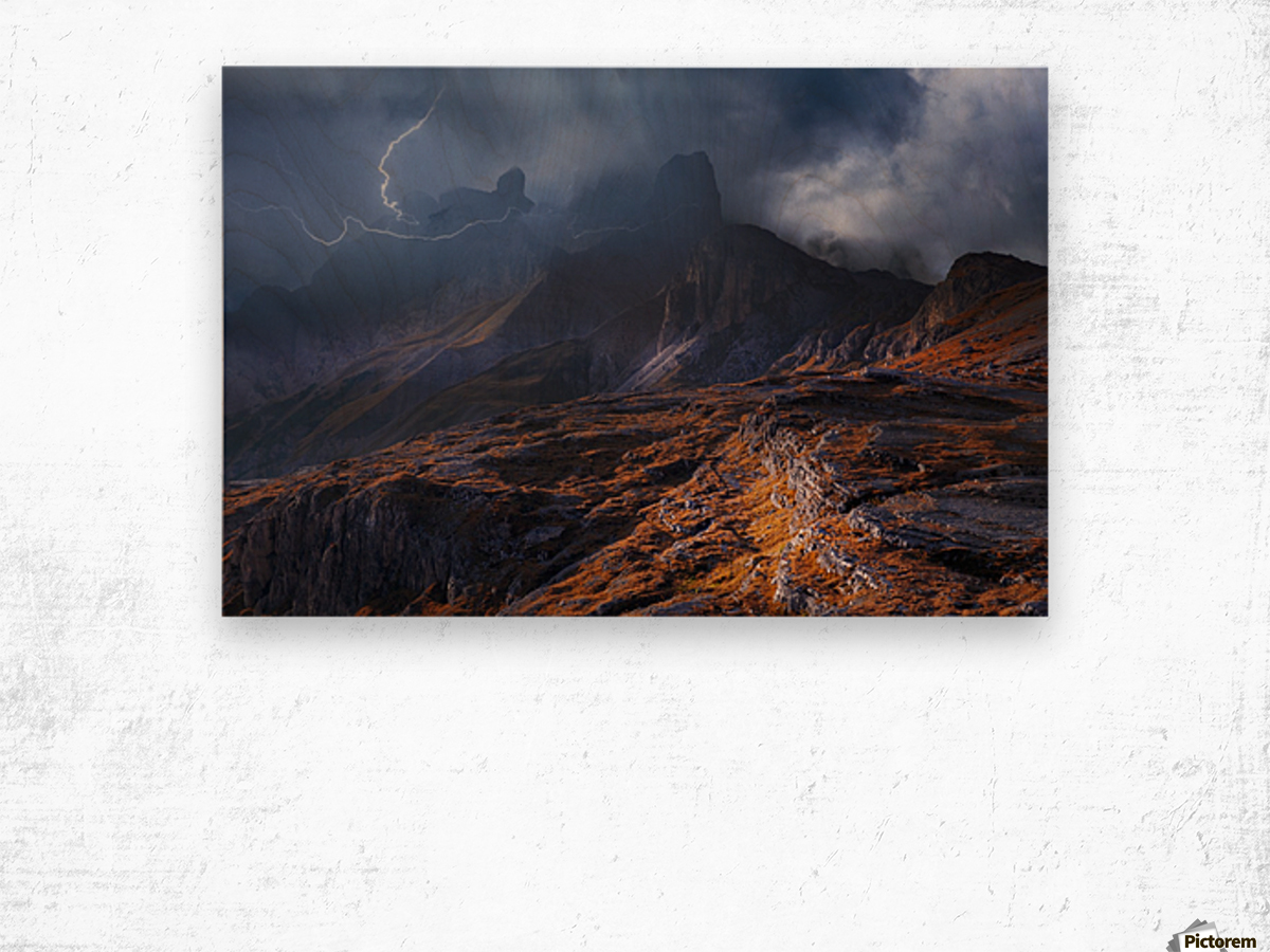 Bergwetter Wood print