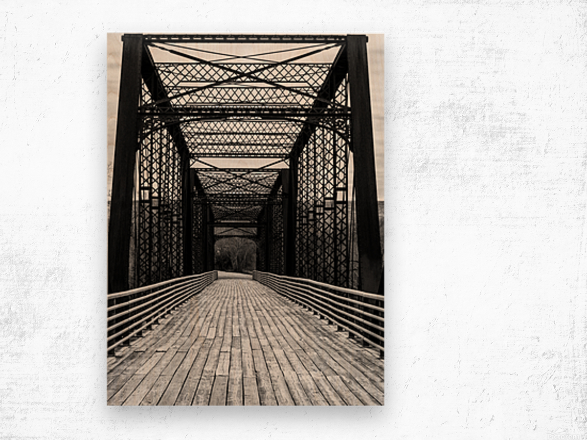 THE CROSSING Wood print