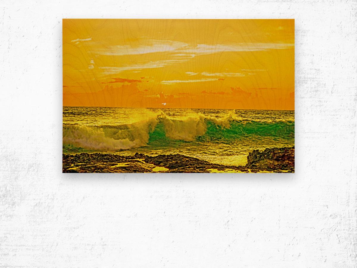At the Sea Shore Wood print