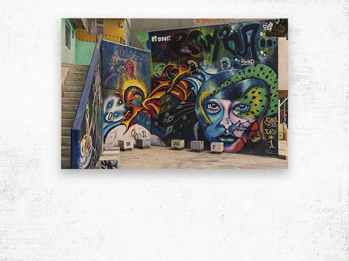 Background Graffiti Wood print