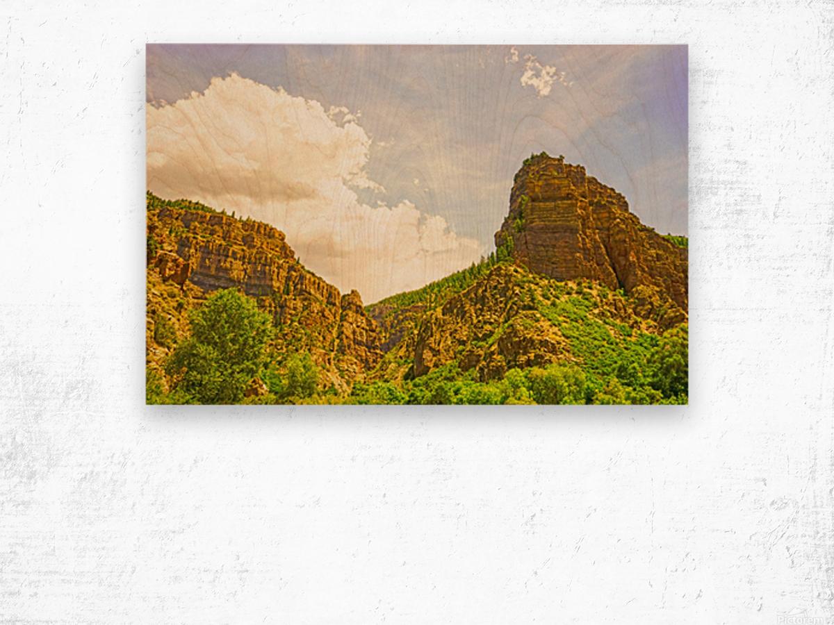 Golden Colorado Wood print