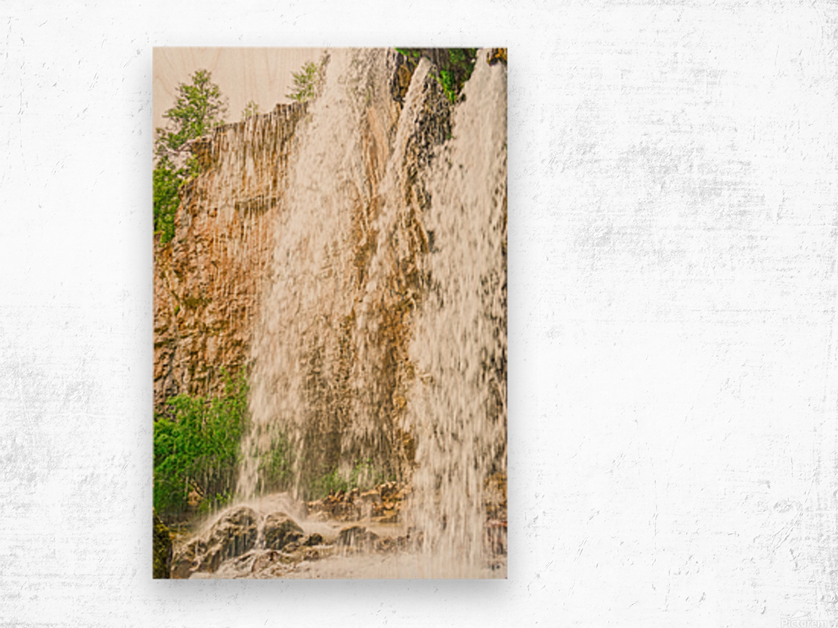 Rocky Mountain Rapids and Waterfalls 3 of 8 Wood print