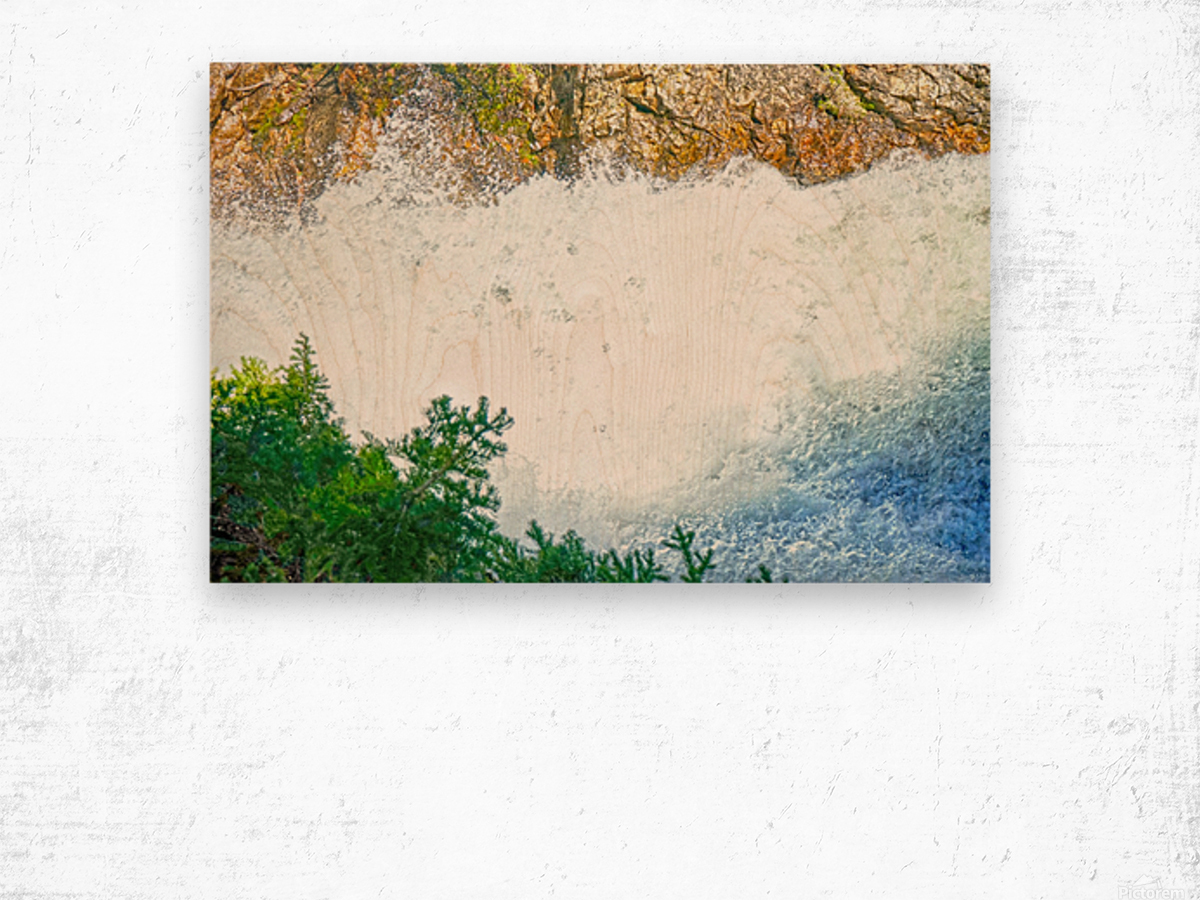 Rocky Mountain Rapids and Waterfalls 1 of 8 Wood print