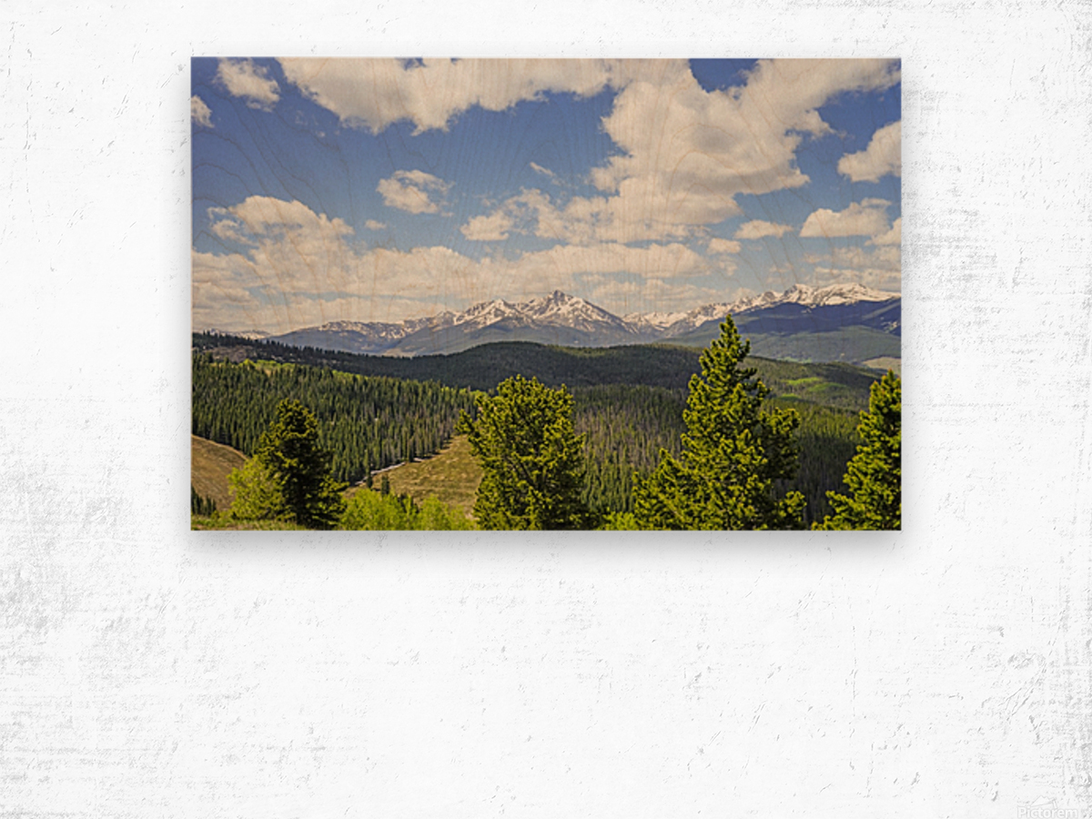 Back Country Colorado 1 of 8 Wood print