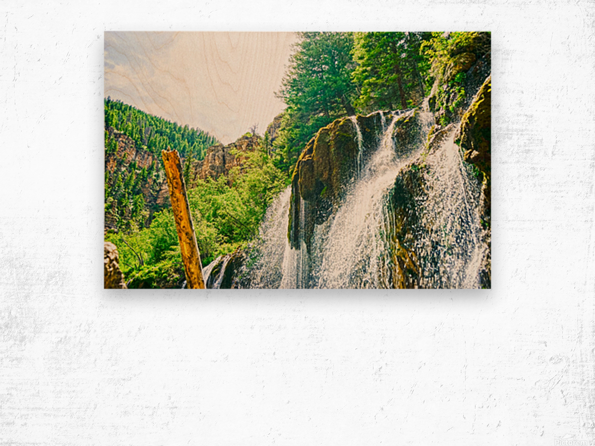 Waterfall Country Colorado 1 of 4 Wood print