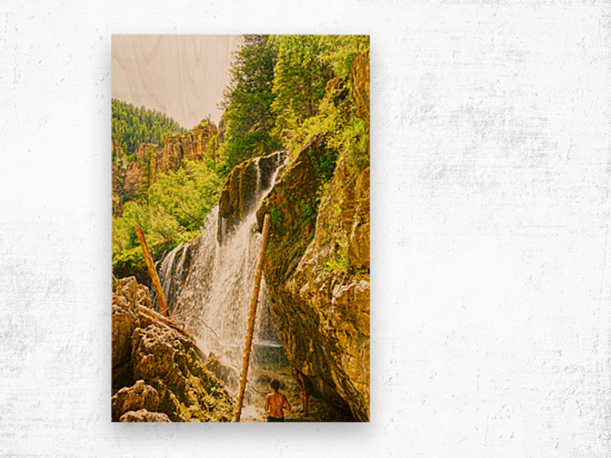 Waterfall Country Colorado 4 of 4 Wood print