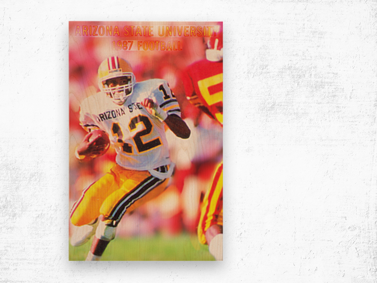 1987 Arizona State Football Poster Wood print