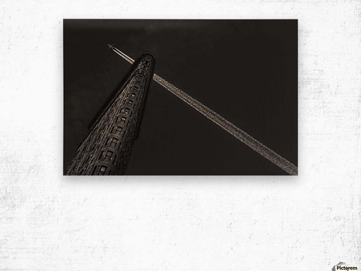 New York - Flatiron crossing Wood print