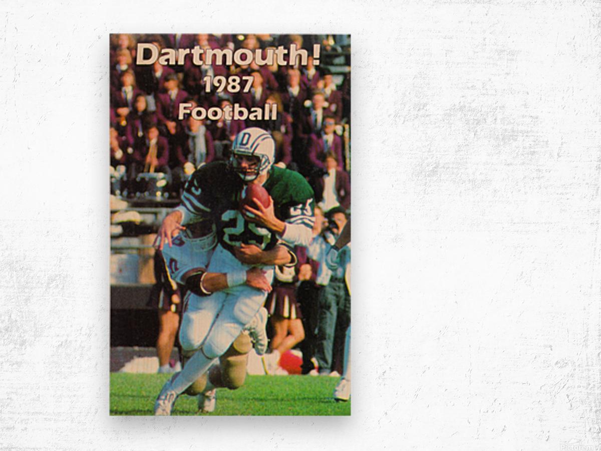 1987 Dartmouth Big Green Football Poster Wood print