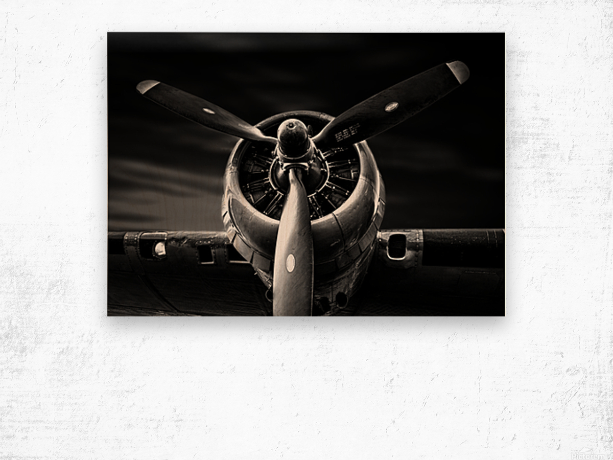 Wright Cyclone Boeing B17 Wood print