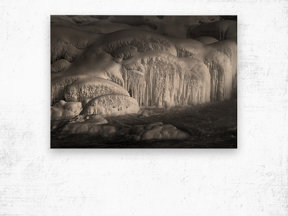 Ice Wall Wood print