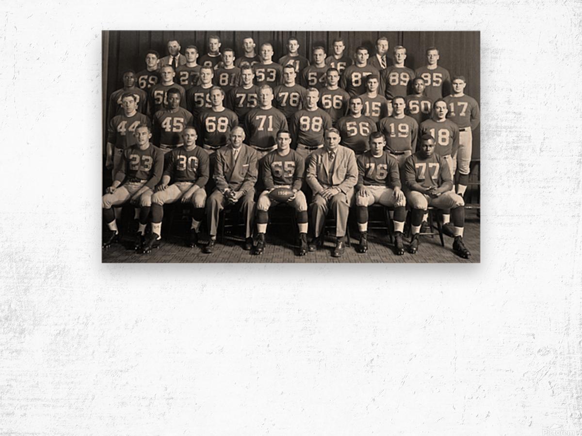 1954 University of Michigan Football Team Photo Wood print