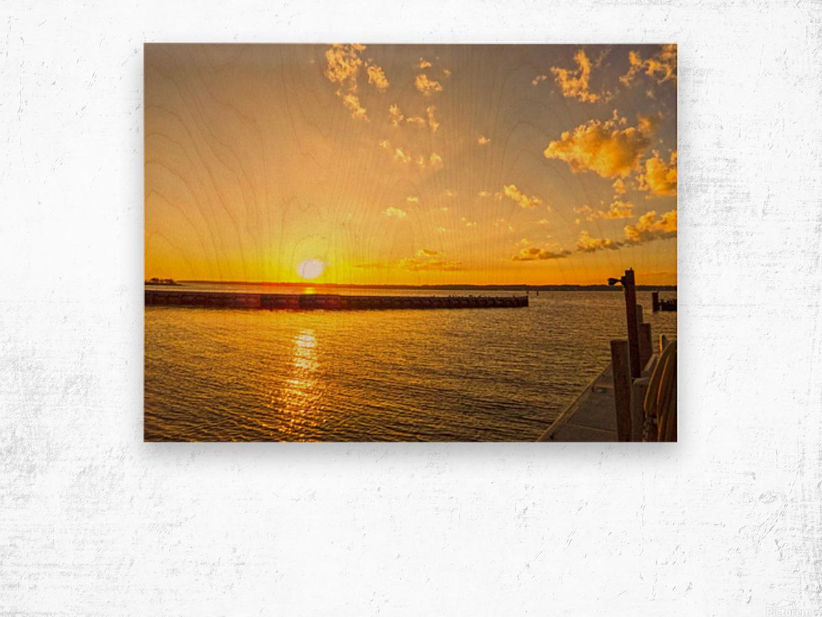 Low Country Sunset South Carolina Wood print
