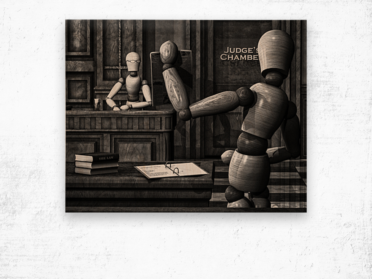 Witness For The State Wood print