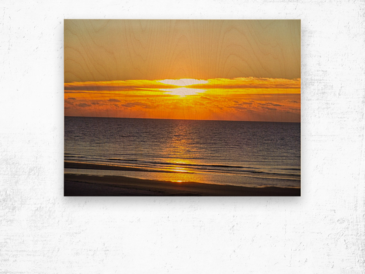 Blue Morning Sunrise Wood print