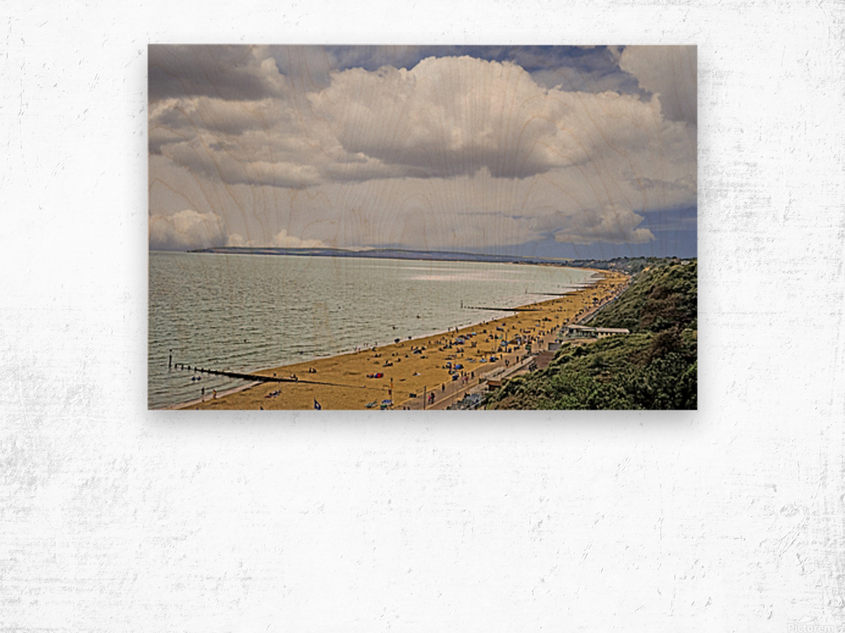 At the Beach in Southern England Wood print