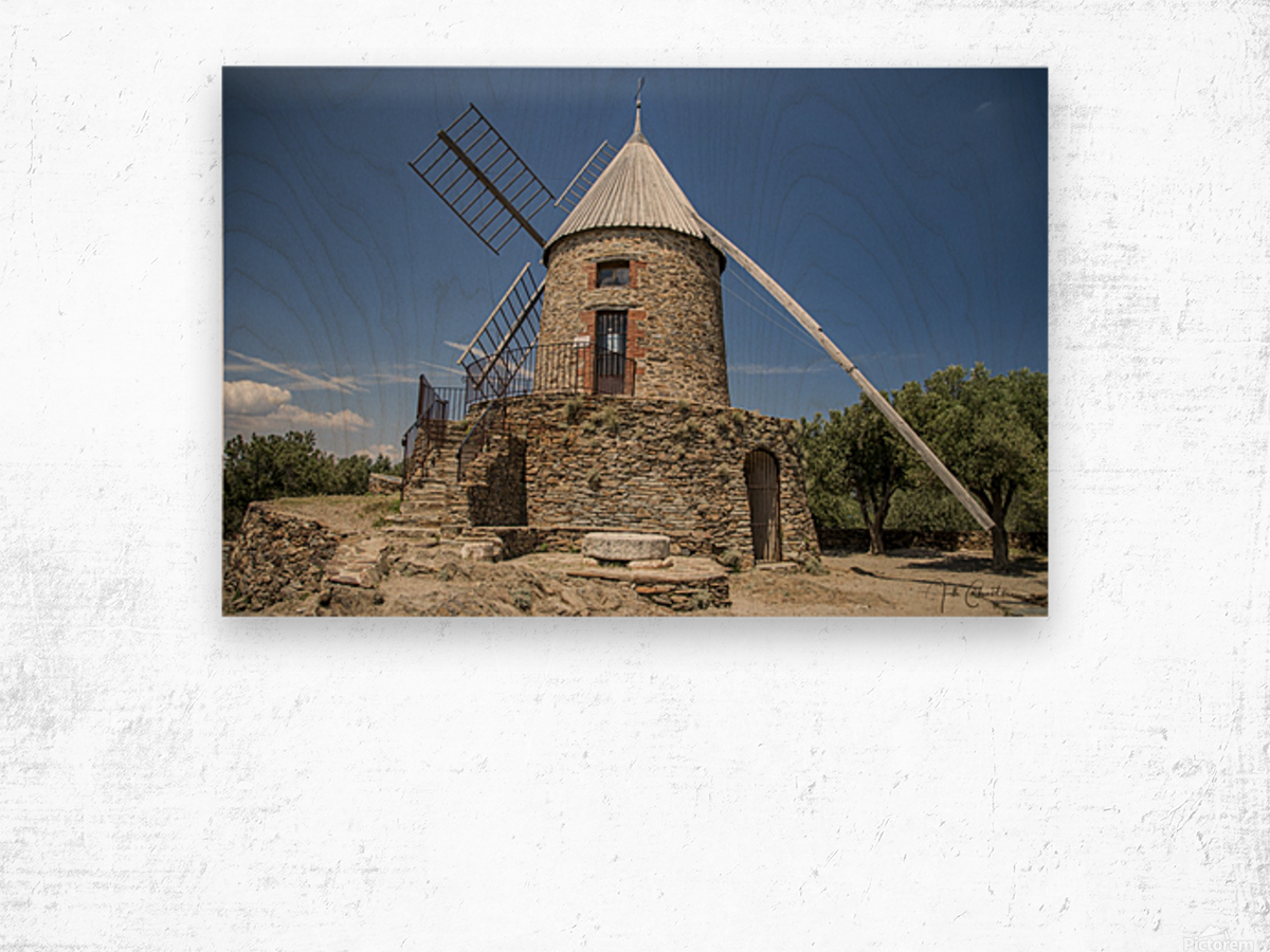 Moulin Collioure  Wood print